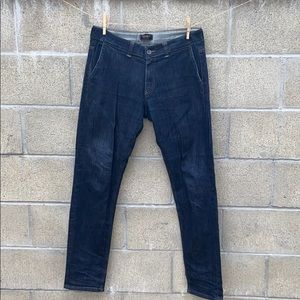 Exibit made in Italy faux pocket jeans